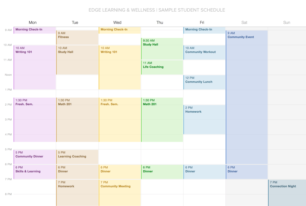 EDGE: Sample Schedule